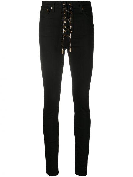 Хлопковые классические облегающие черные джинсы-скинни Garcons Infideles