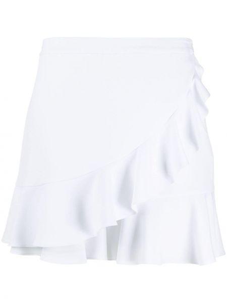 Белые шорты с запахом с оборками Boutique Moschino