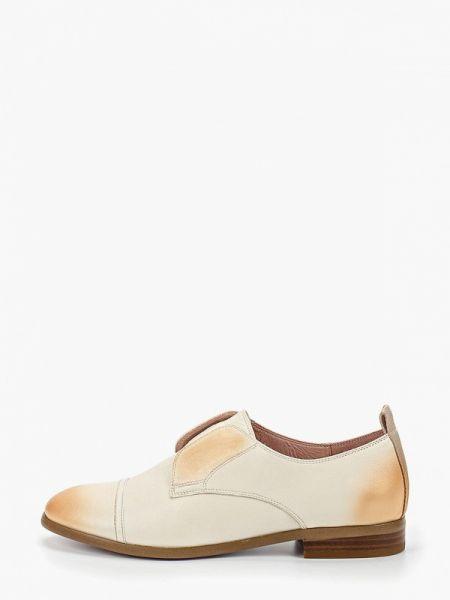 Кожаные ботинки бежевые кожаные Graciana