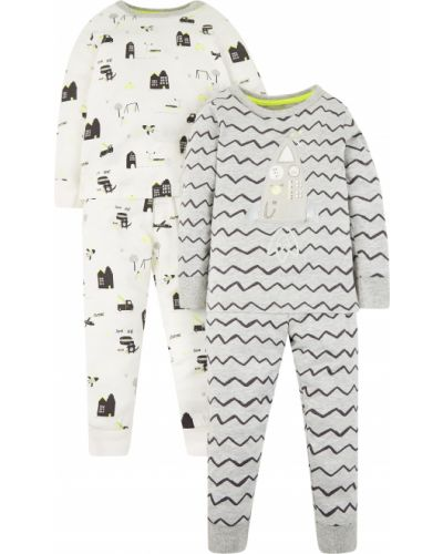 Пижама белая серая Mothercare