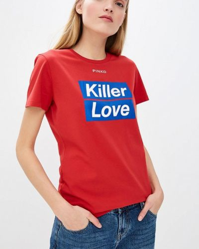 Красная футболка Pinko