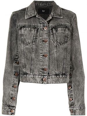 Хлопковая джинсовая куртка - серая 3x1