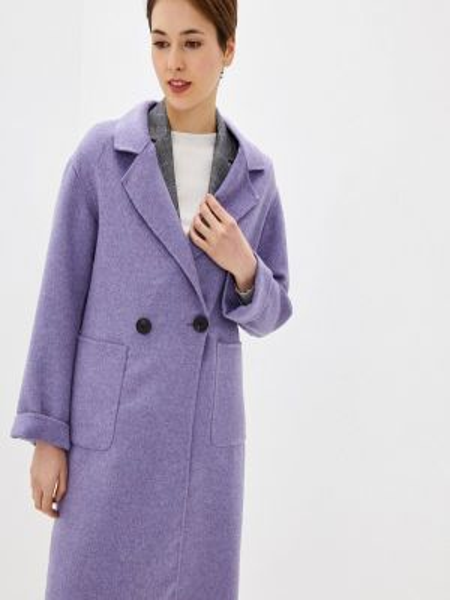 Фиолетовое пальто с капюшоном Marks & Spencer