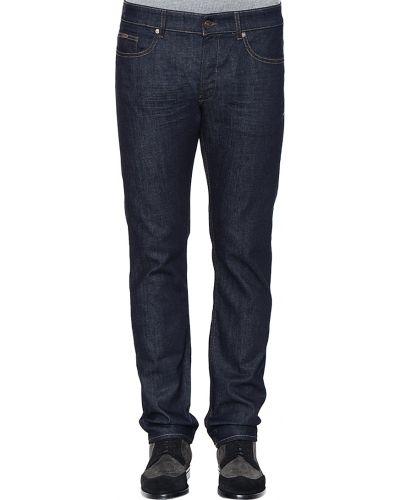 Хлопковые джинсы - синие Hugo Boss