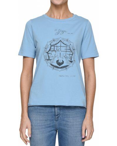 Голубая футболка хлопковая Peuterey