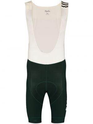 Zielone szorty z nylonu z printem Rapha