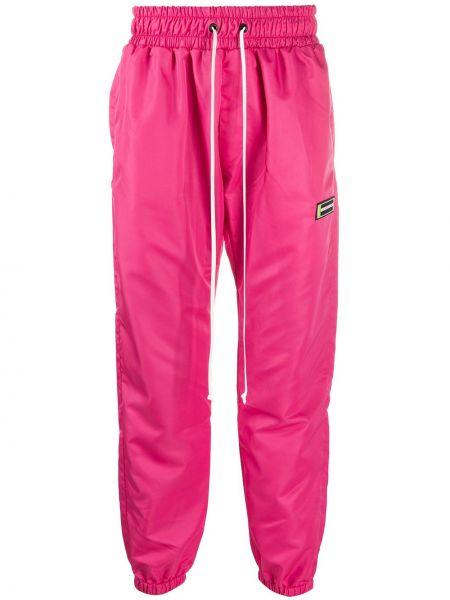 Różowe spodnie z nylonu Daniel Patrick