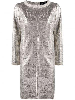 Платье из полиэстера - серебряное Gianluca Capannolo