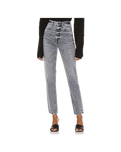Хлопковые джинсы-скинни с карманами на молнии узкого кроя Slvrlake