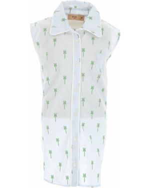 Zielona koszula bawełniana bez rękawów No. 21
