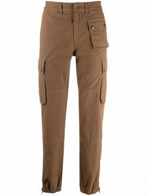 Spodnie bawełniane - brązowe Belstaff