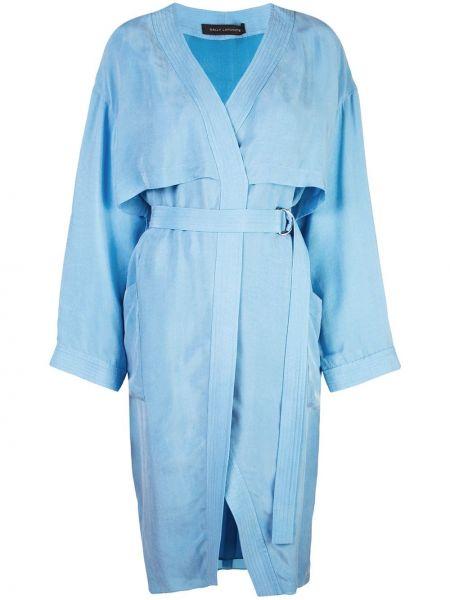 Шелковое платье с запахом с вырезом на молнии Sally Lapointe