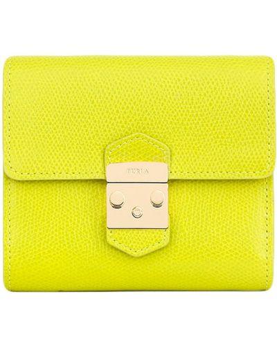 Зеленый кожаный кошелек Furla