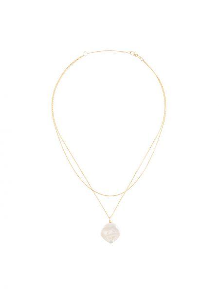 Желтое ожерелье с жемчугом Natasha Schweitzer