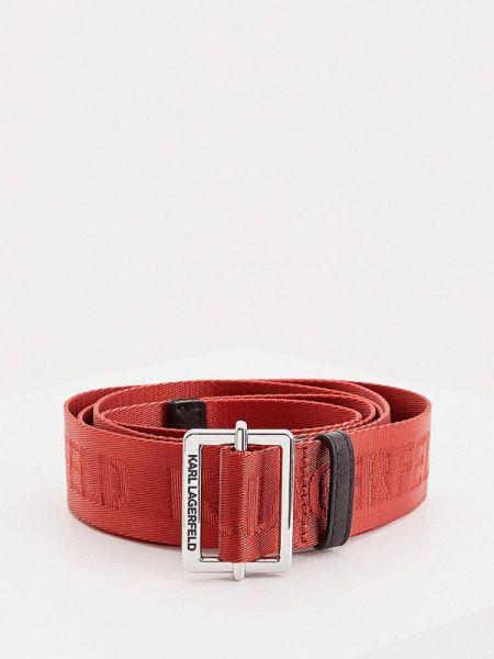 Ремень красный Karl Lagerfeld