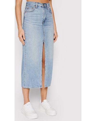 Niebieska spódnica jeansowa Levi's