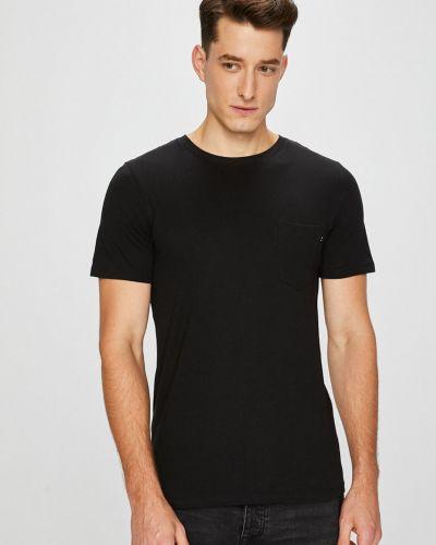 Черная футболка однотонная Jack & Jones