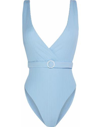 Niebieski strój kąpielowy z paskiem Onia