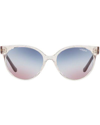 Солнцезащитные очки кошачий глаз серебряный Vogue Eyewear