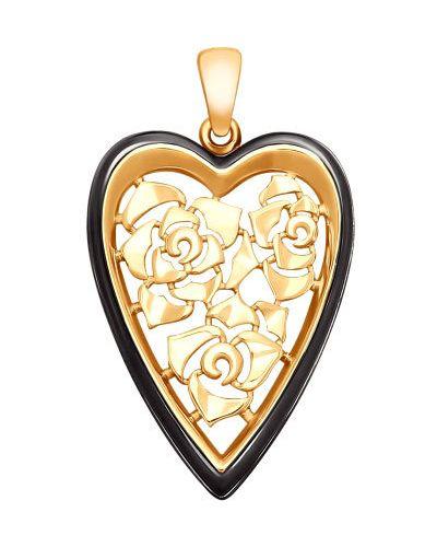 Серебряная подвеска золотой позолоченная Sokolov