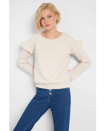 Bawełna z rękawami bluzka z falbankami Orsay