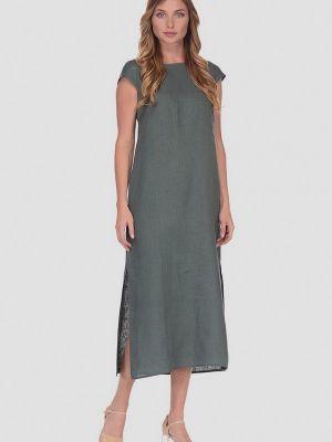 Платье макси зеленый хаки Gabriela