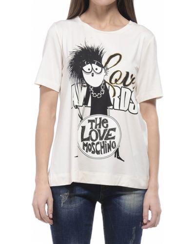 Бежевая футболка Love Moschino