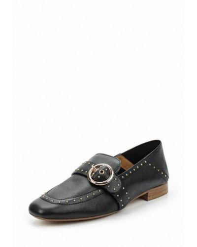 Кожаные туфли на каблуке черный Bronx