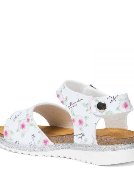 Кожаные сандалии - белые Monnalisa