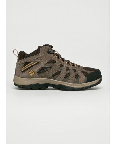Ботинки на шнуровке треккинговые кожаные Columbia