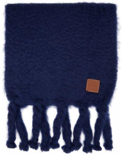 Niebieski szalik wełniany Loewe