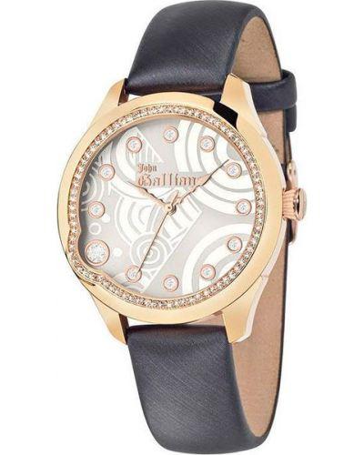 Часы на кожаном ремешке кварцевые водонепроницаемые Galliano