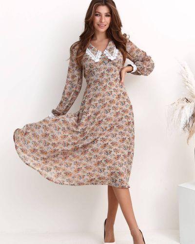 Шифоновое платье - бежевое Nenka