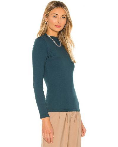 Prążkowana zielona koszula bawełniana Nsf