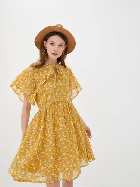 Желтое платье Villagi