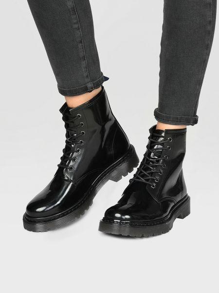 Кожаные ботинки - черные Trussardi Jeans