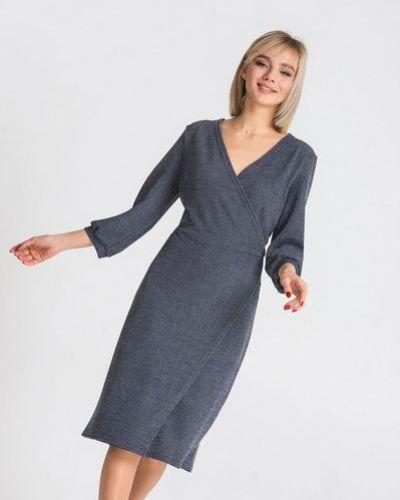 Трикотажное синее нарядное платье Vovk
