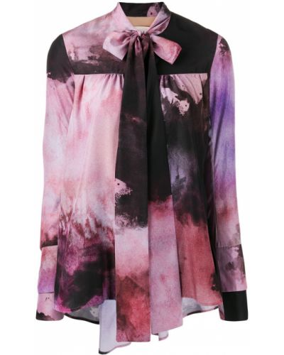 Блузка с длинным рукавом розовая в полоску Ssheena