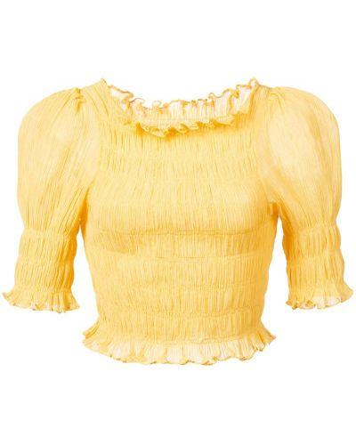 Желтая блузка с оборками Jill Stuart