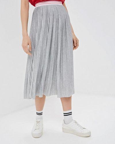 Плиссированная юбка серая Q/s Designed By