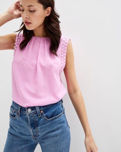 Блузка без рукавов розовая весенний Yuna Style