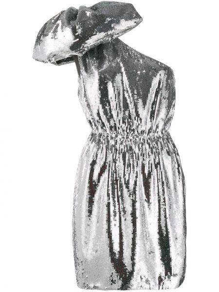 Sukienka mini z wiskozy z haftem oversize N°21