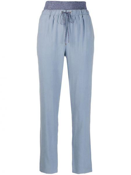 Брючные синие брюки с карманами D.exterior