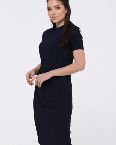 Синее платье-футляр Magnet