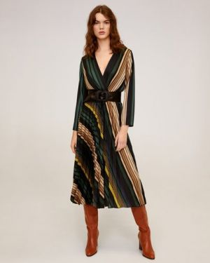 Платье миди макси в полоску Mango