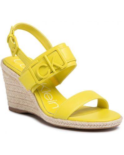 Żółte espadryle Calvin Klein