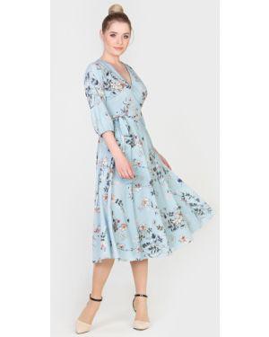 Летнее платье миди с запахом Filigrana