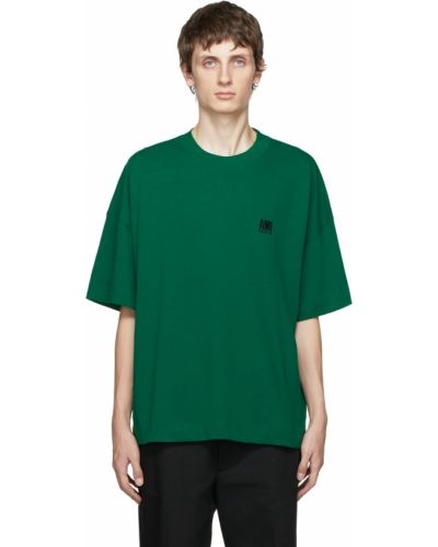 T-shirt bawełniana - czarna Ami Alexandre Mattiussi