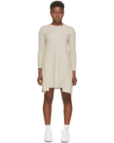 Платье макси с длинными рукавами с воротником из альпаки с манжетами Stella Mccartney