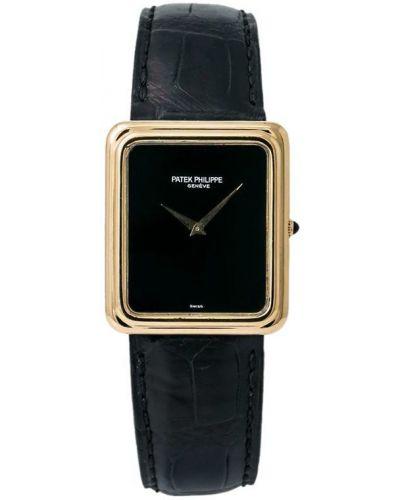 С ремешком кожаные часы винтажные Patek Philippe